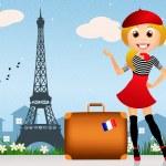 Trip in Paris — Stock Photo