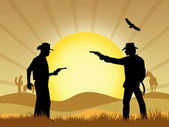 Cowboy duel — Stock Photo
