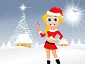 圣诞女孩 — 图库照片