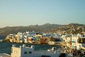 View of Mykonos city — Stockfoto