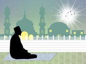 Muslim man praying — Stock Photo