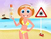 Danger sunburn — Stock Photo
