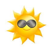 Sun with sunglasses — Stock Photo