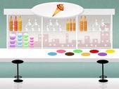 Ice cream shop — Stock Photo