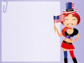 Amerikalı kız — Stok fotoğraf