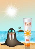 Sun cream — Stock Photo