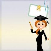 Graduação de mulher — Foto Stock