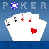 Poker-asse — Stockfoto