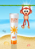 Solar lotion — Stockfoto