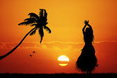 Hawaiian dance — Stock Photo