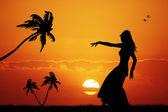 Hawaiian dance — Stock Photo
