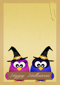 Halloween postcard — Stockfoto