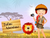 Safari adventure — Stock Photo