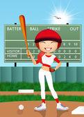 девушка играет в бейсбол — Стоковое фото