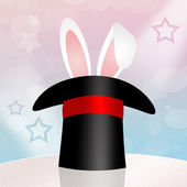 Rabbit in the magic hat — Stock Photo