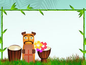 Totem and bongos — Stock Photo