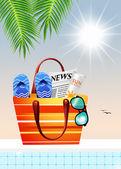 Torba plażowa — Zdjęcie stockowe