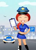 Police girl — Stock Photo