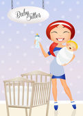 Babysitter — Foto Stock