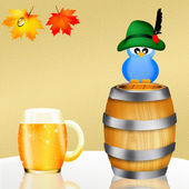 Oktoberfest beer — Stock Photo