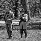 2 American Civil War Officers — Stock Photo