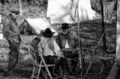 Civil War Camp — Stock Photo