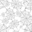 Spider's web. Vector. — Stock Vector #13852036