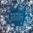 Elegant christmas blue background — Stock Vector