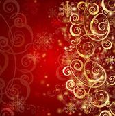 Elegante fondo de navidad rojo — Vector de stock