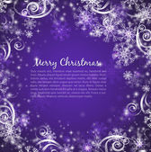 Elegant christmas purple background — Stock Vector