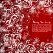 Royalty-Free Stock Vector Image: Elegant christmas red background