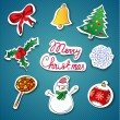 Royalty-Free Stock Vector Image: Christmas icons set.Vector illustration