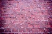 Estrada calçada molhada close-up — Fotografia Stock