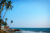 Tropical Indian village  in Varkala, Kerala, India — Stock Photo