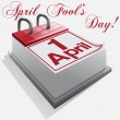 1 April, April Fool's Day, Day of laughter. - 图库矢量图片