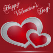 Royalty-Free Stock Vektorgrafik: Metal hearts, happy valentine day