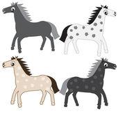 Cartoon horses — Stock Vector
