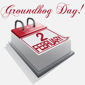 Calendar 2 february groundhog day — Stok Vektör