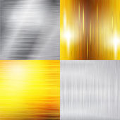 Set of metal silver and gold structure — Stock Vector