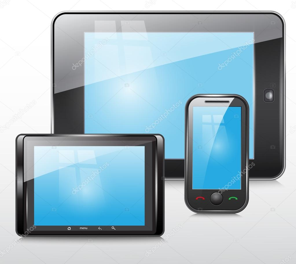 Mobile Tablet Icon Tablet And Mobile Phone Icon