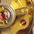 Clockwork of a chronograph. Extreme closeup. Macro — Stock Video