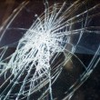 Broken glass in car  — Stock Photo