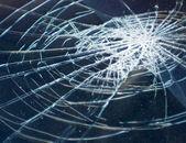 Broken glass in car . — Stockfoto