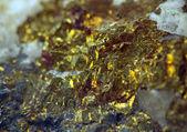 Nugget. Precious metals, crystals. Extreme closeup — Stock Photo