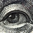 Stock Photo: Dollar USA, eye. Extreme closeup.Macro