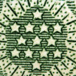 Dollar USA, stars. Extreme closeup.Macro — Stock Photo #36788227