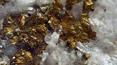 Nugget, gold, bronze, copper, iron. Macro. Extreme closeup — Stock Photo