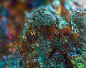 Crystal,nugget, gold, bronze, copper, iron. Macro. Extreme close — Foto de Stock