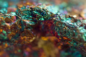 Crystal,nugget, gold, bronze, copper, iron. Macro. Extreme close — 图库照片