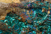 Crystal,nugget, gold, bronze, copper, iron. Macro — Stock Photo